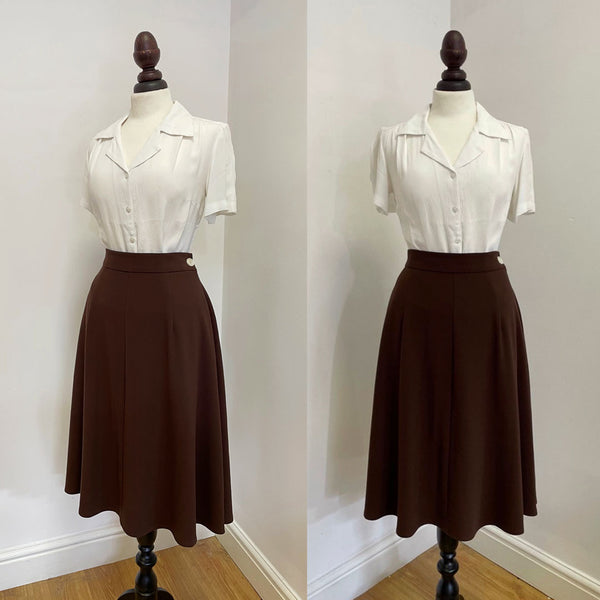 1940s Style Classic A line Skirt
