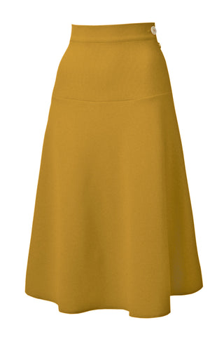 Vintage 40s style A line Mustard Skirt | Weekend Doll