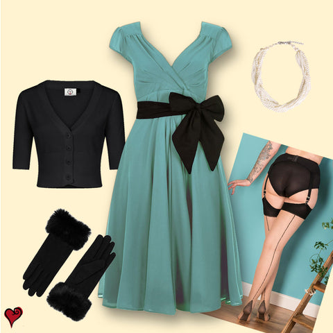 Vintage Hollywood Inspired Outfit | 1950s Swing Dress | Weekend Doll