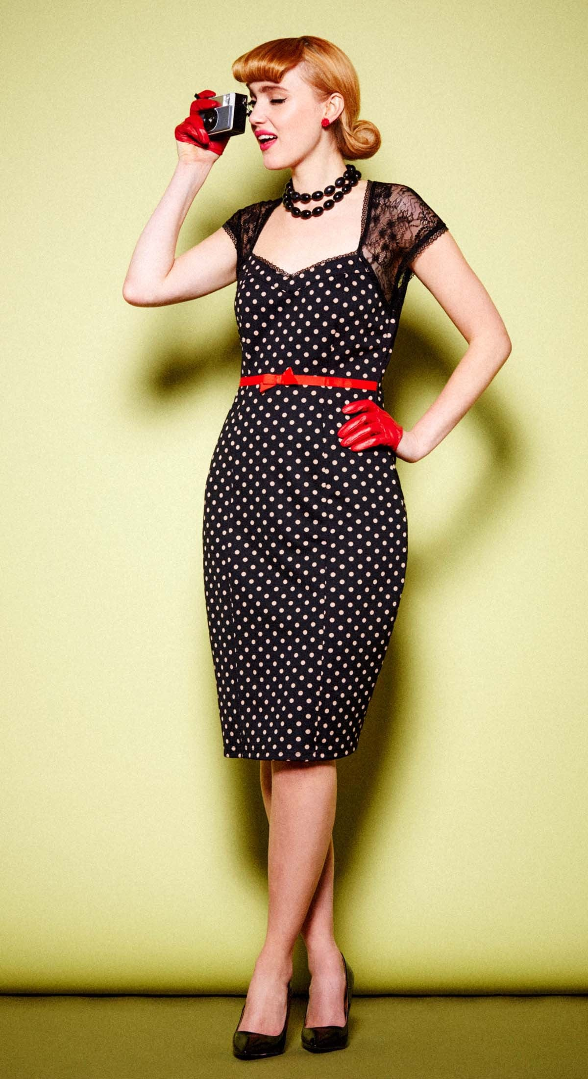 Betty Polka Dot Wiggle Dress - Weekend Doll