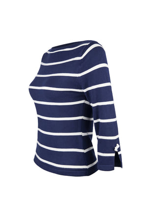 Navy and White Striped Nautical Jumper
