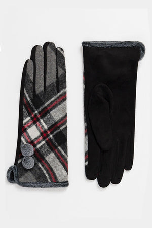 Bonnie Red Tartan Check Glove
