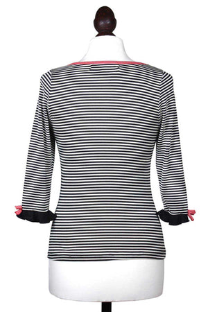 Black and White Striped Jersey Top - Weekend Doll