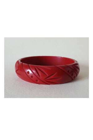 Red  Fakelite Medium Bangle |  1940s & 1950s Style | Weekend Doll