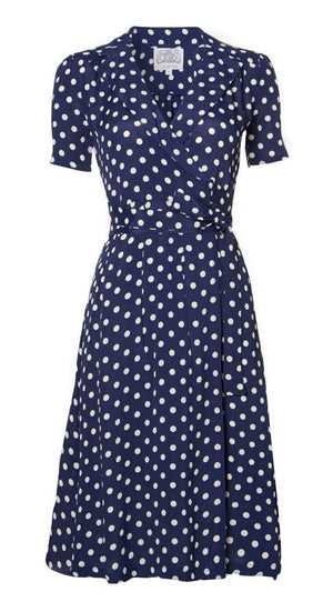Peggy Polka Dot Wrap Dress - Weekend Doll