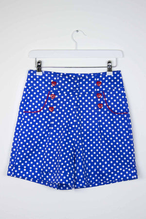 Blue Polka Dot Shorts - Weekend Doll
