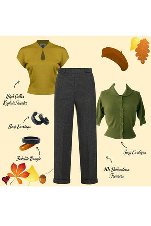 Retro Autumn Outfit | 1940s Style | Weekend Doll