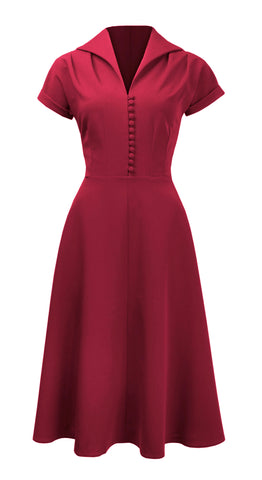 Red Evening Dresses 1940s