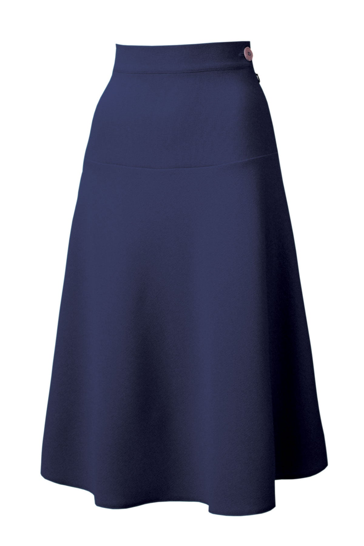 Pretty 40s Navy A line Crepe Swing Skirt - 1940s | Weekend Doll