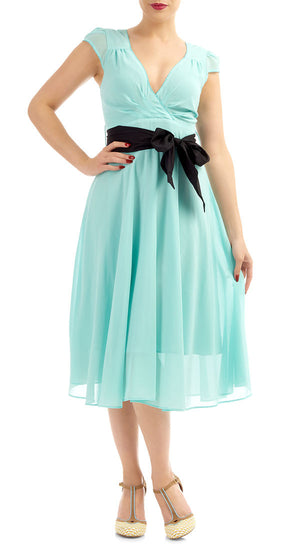 Rosa Mint Chiffon Swing Dress - Weekend Doll