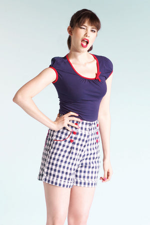 Short Sleeve Sailor Top