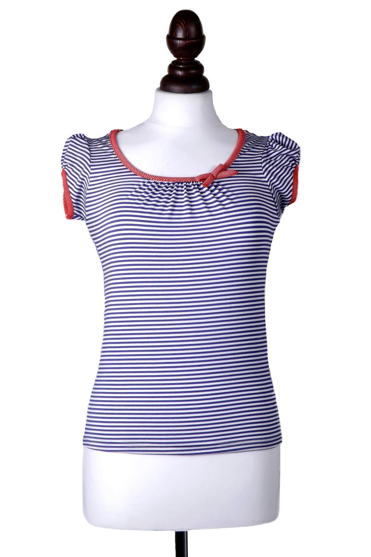 Striped Short Sleeve Sailor Top - Weekend Doll