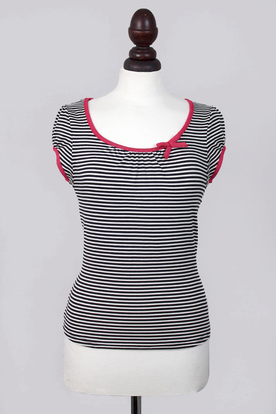 Sailor Black and White Striped Top - Weekend Doll
