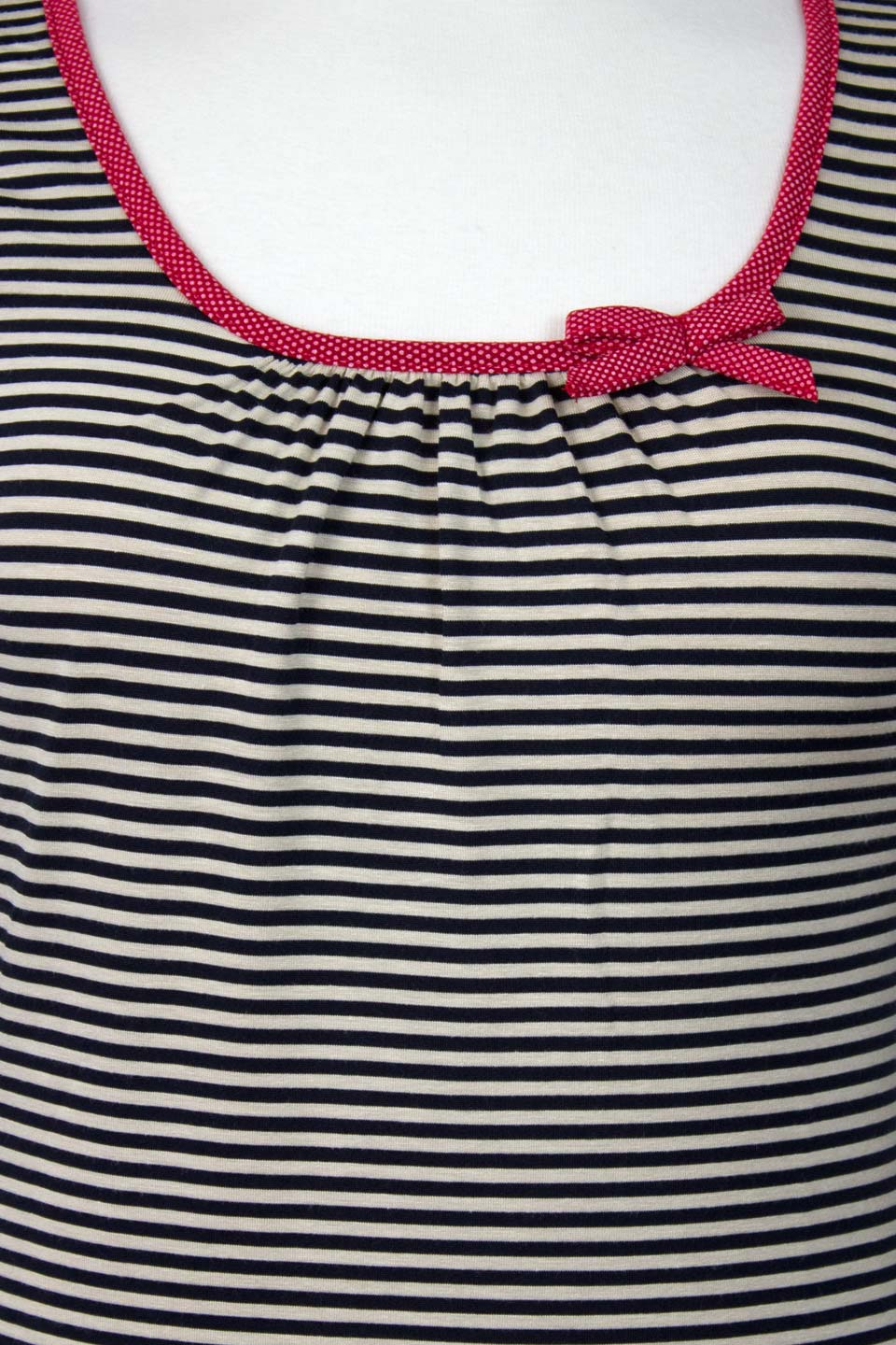 Black And Beige Striped Long Sleeve Sailor Top - Weekend Doll