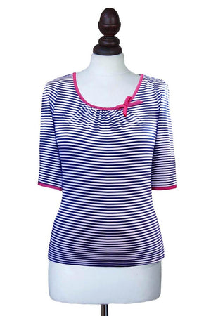 Striped Long Sleeve Sailor Top