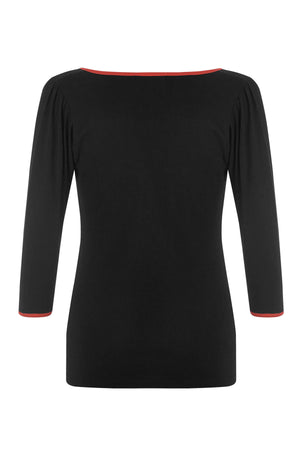 Black Long Sleeve Sailor Top - Weekend Doll