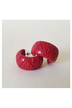Strawberry C Hoop Earrings | 1940s & 1950s Style | Weekend Doll