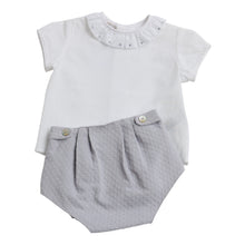 Paz Rodriguez Grey 3 Piece Short & Cardigan Set