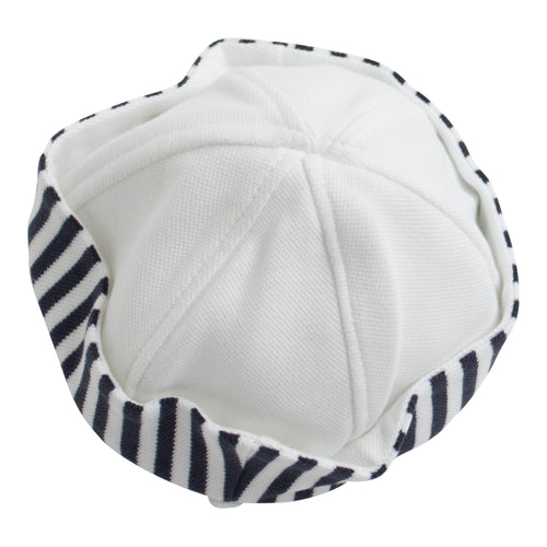 Paz Rodriguez Navy & White Stripe Summer Hat