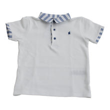 Paz Rodriguez Blue & White Boys Polo Top