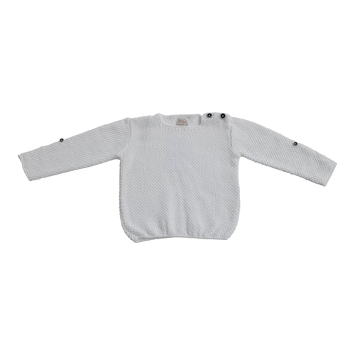 Paz Rodriguez Knitted Boys White Jumper
