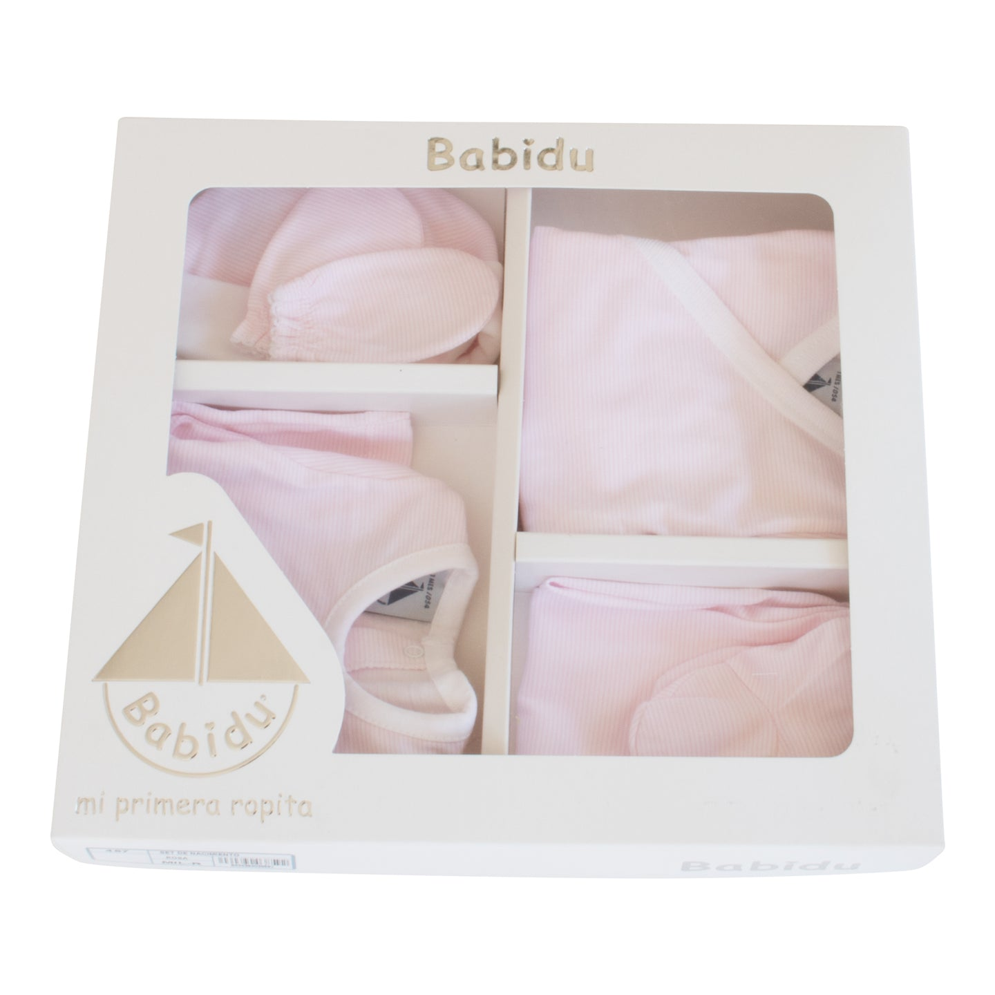 Babidu Striped Newborn 5 Piece Gift Pack