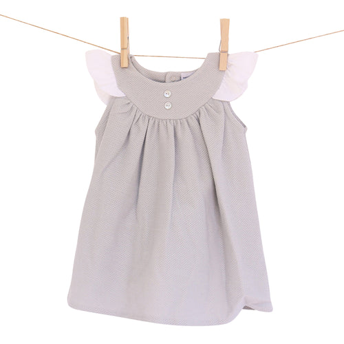 Babidu Grey Dress with Matching Pants