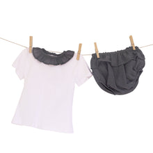 Babidu Frill Collar T-Shirt and Matching Pants