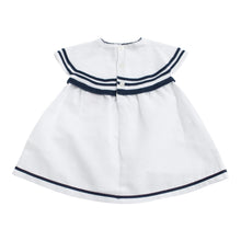 Paz Rodriguez Navy & White Woven Dress