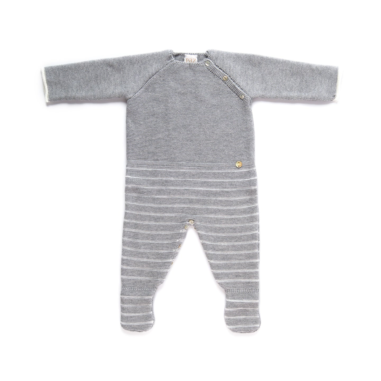 Paz Rodriguez Grey Knitted Winter Romper
