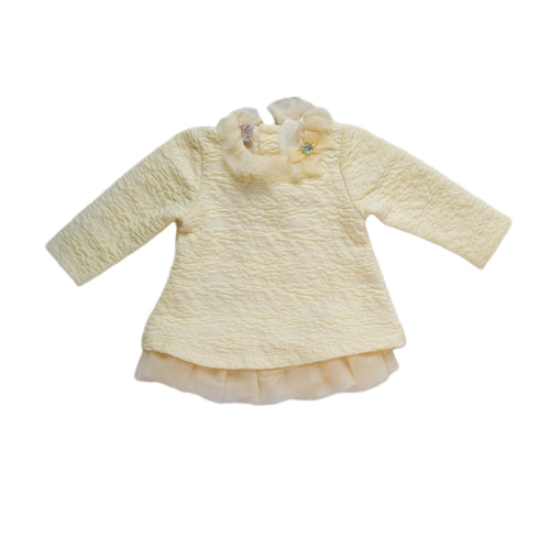 Paz Rodriguez Cream Winter Dress