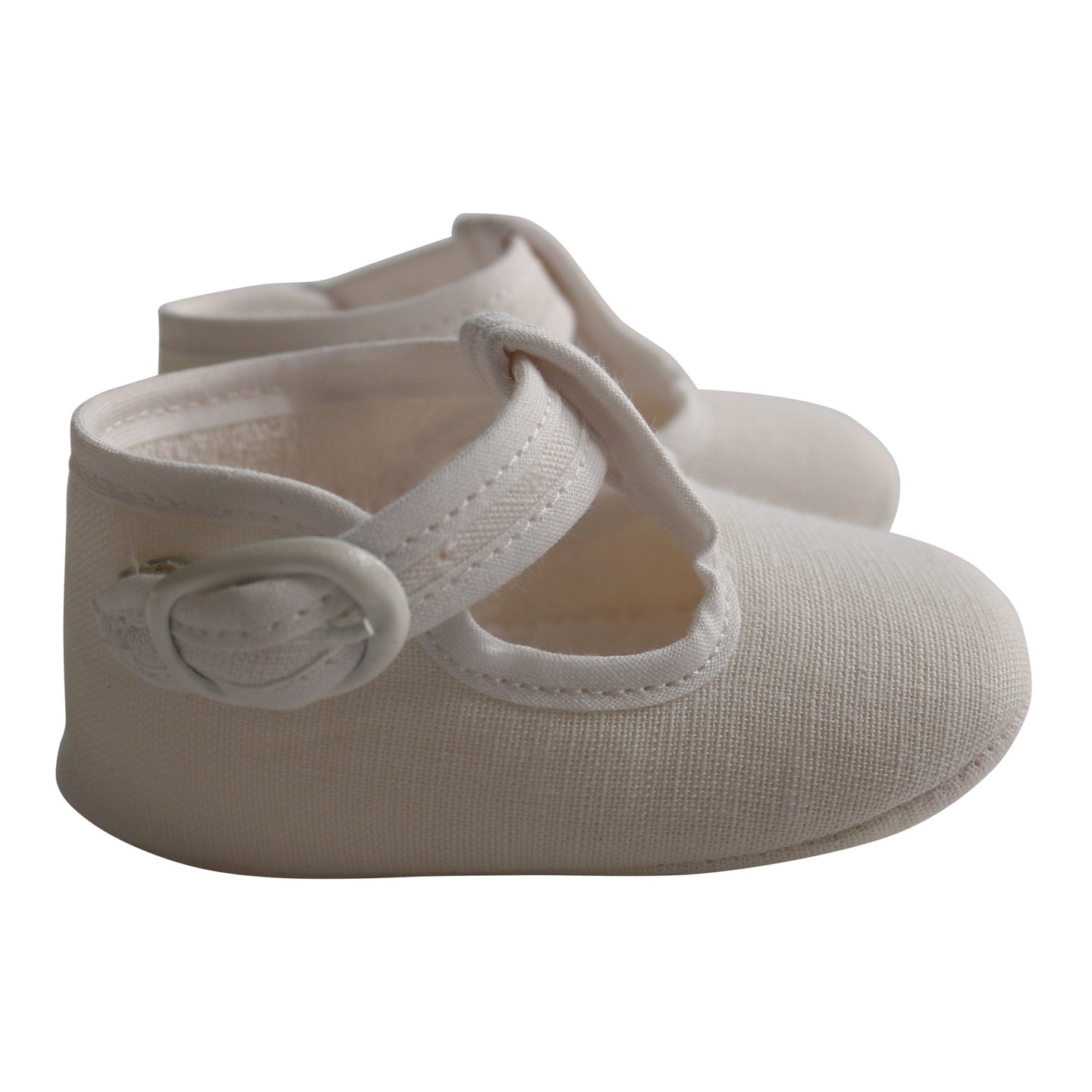 Paz Rodriguez White Baby Shoes