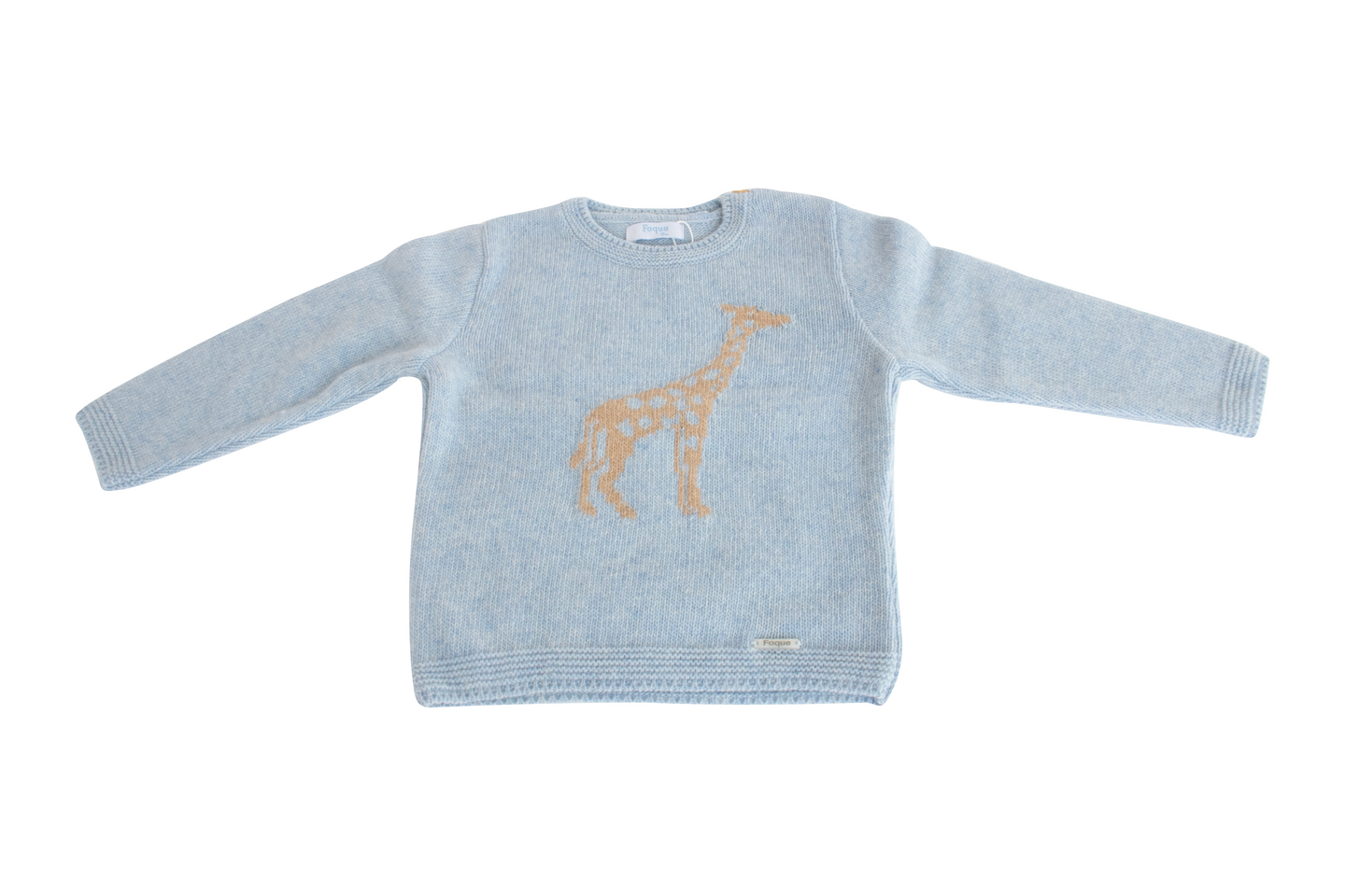 Foque Blue Giraffe Knit Jumper