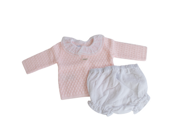 Foque Baby Knitted Top and Shorts Set