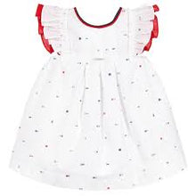 Foque Nautical Theme White Dress with Bow Detail