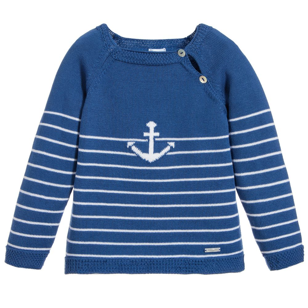 Foque Boys Blue Anchor Jumper