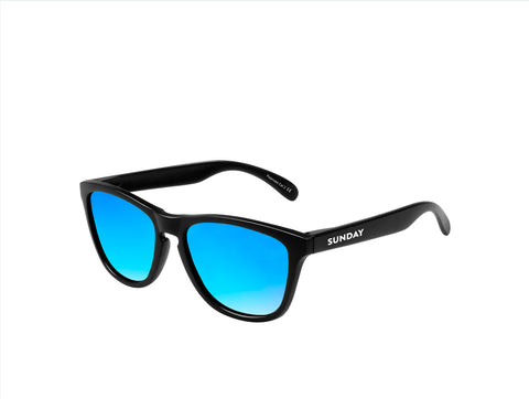 Carbon Ice Blue Sunglasses - Sunday Shades