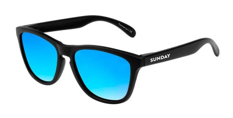 Carbon Matte Ice Blue Sunglasses