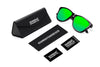 Image of Carbon Emerald Sunglasses - Sunday Shades