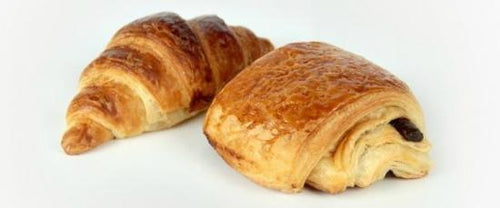 2 pain au chocolats & 2 croissants ready to bake