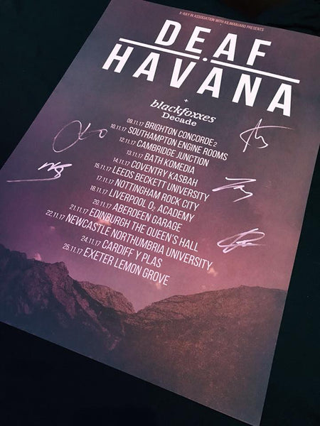 '2017 UK Nov Tour' Poster (SIGNED)