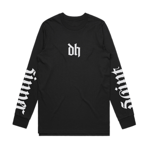 'Saint/Sinner Ambigram' Longsleeve T-Shirt (Black)