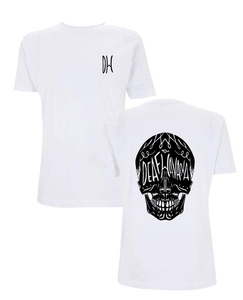 'Skull' Mens White T-Shirt