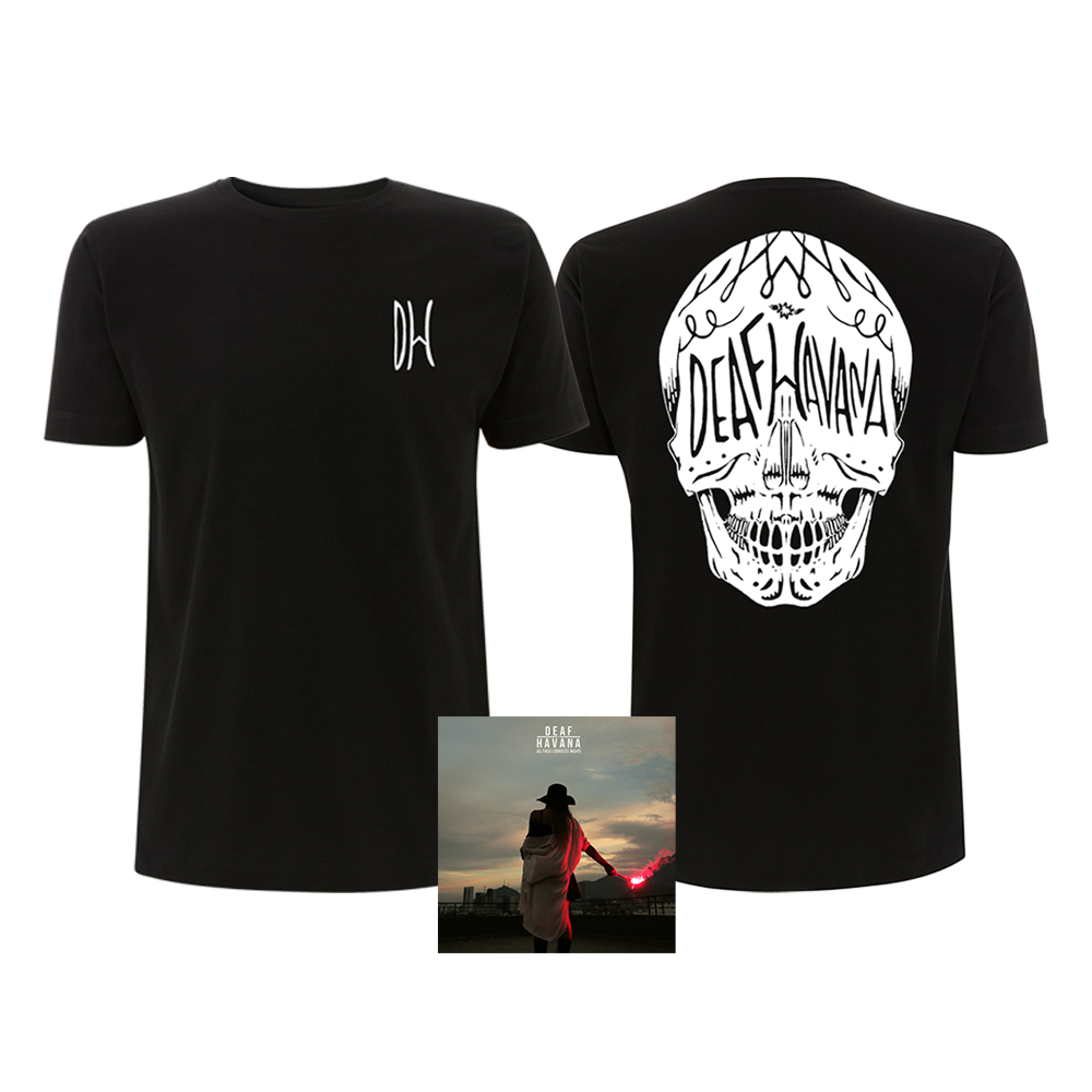 All These Countless Nights Standard CD + Black Skull T-Shirt Bundle