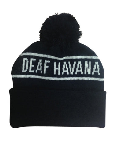 'Logo' Black Bobble Hat