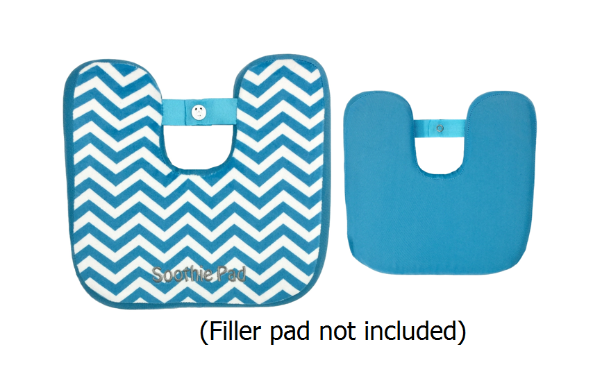 Blue & White Chevron Soothie Sleeve