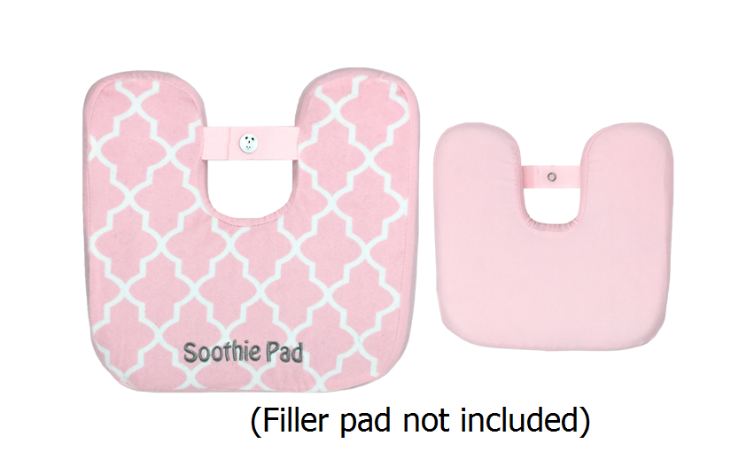 Pink & White Quatrefoil Soothie Sleeve