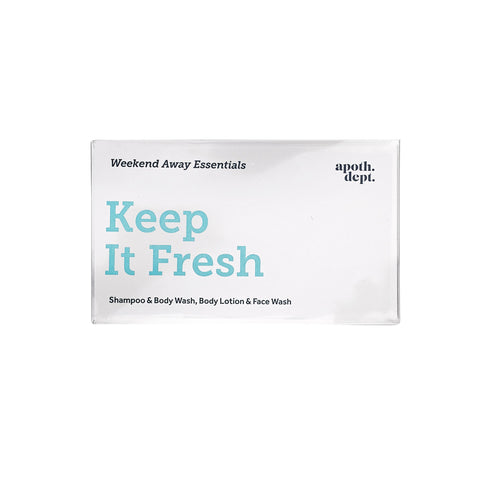 Keep It Fresh - Weekend Away Essentials