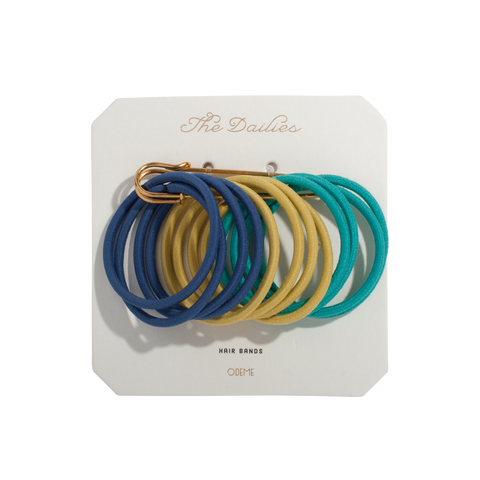 Hair Bands - Navy Variety