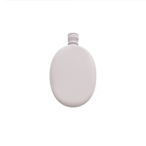 Oval Flask - White